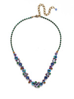 Copy of  Sorrelli Game of Jewel Tones Classic  Crystal   Necklace~NDK17AGGOT