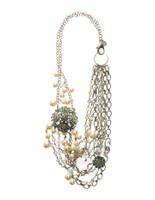 Sorrelli Running Water Crystal Necklace~ NCG17ASRW