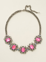 SORRELLI PINK MUTINY  CRYSTAL NECKLACE