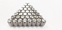 Thirty-six (36) Pack Solid 304 Stainless Steel 1/2-20 Lug Nuts For Trailer Wheel