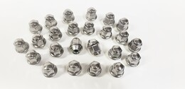 24 Pack Lug Nuts 1/2 Inch Stainless Steel Capped Acorn Bulge Trailer Wheel Rim