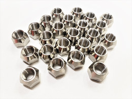 Twenty-Four (24) Pk Open 304 Stainless Steel 1/2-20 Lug Nuts For Trailer Wheel