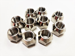 Ten (10) Pack Open 304 Stainless Steel 1/2-20 Lug Nuts For Trailer Wheel Rim