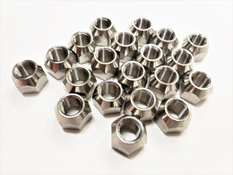 Twenty (20) Pack Open 304 Stainless Steel 1/2-20 Lug Nuts For Trailer Wheel