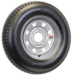 Mounted Trailer Tire and Rim ST175/80D13 175/80 D 13 5-4.5 Silver Spoke Wheel
