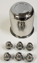 Trailer Wheel Lug and Cap Set. Stainless Steel Hub Cover 6 SS Lugs 3.75in Center