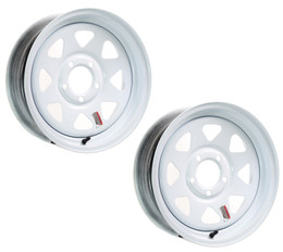 2-Pack eCustomrim Trailer Wheel Rim 15X5 5-4.5 White Spoke 1870 Lb.