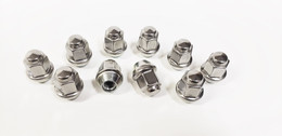 10 Pack Lug Nuts 1/2 Inch Stainless Steel Capped Acorn Style Trailer Wheel Rim