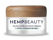Hemp Beauty CBD Muscle Relax Pain Cream  1oz 125 MG Extra Strength