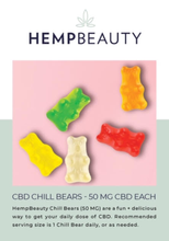 Hemp Beauty Chill Bears (6 piece 300mg) 50mg
