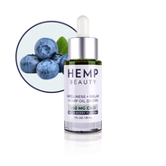Hemp Beauty 1oz 250 MG CBD Blueberry Oil Drops Wellness & Relax 1oz/30mL