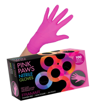Framar Gloves Powder Free- Medium Pink Nitrile Glove