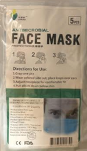 Antimicrobial Face Mask Protection 5 pieces