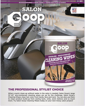 """Goop Sanitizing Wipes 90ct 10""""x 12"""" ( 80% Alcohol Wipes)"""