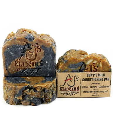 AJ's Elixirs Kalonji Bar is our most fully packed bar; it's superfatted to perfection to provide the creamiest and most moisturizing hair and skin loving bar you've ever experienced.