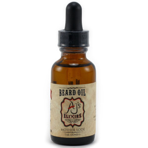 AJ's Elixirs Beard Oil in Mother Lode conditions and benefits both skin and hair.