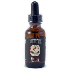 AJ's Elixirs Dark Side Beard Oil in Scent No.16 conditions and benefits both skin and hair.
