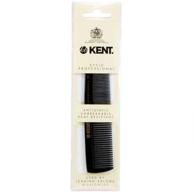Kent Styling Professional SPC85, a 128mm coarse and fine toothed pocket styling comb, brought to you by AJ's Elixirs.