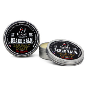 AJ's Elixirs Beard Balm provides deep conditioning, softens the beard, moisturizes the skin, and provides depth to the various colors of hair without being greasy.