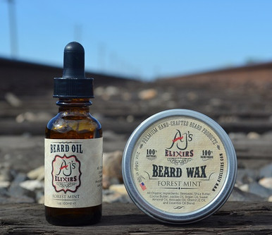 AJ's Elixirs 100% organic and all-natural premium beard care combo kit