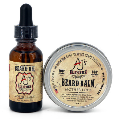AJ's Elixirs conditioning system. This kit provides a hydrating beard oil for your skin and a deep conditioning beard balm for a soft, healthy beard.