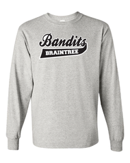 Braintree Bandits AAU Youth Grey Cotton Longsleeve Tee