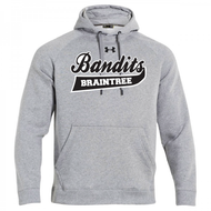 Braintree Bandits AAU Under Armour Adult Gray Fleece Hoodie with Bandits Neck tag