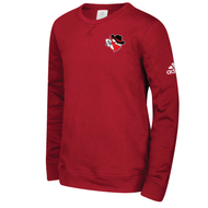 Braintree Bandits AAU Adidas Adult Red Fleece Crew - EMB