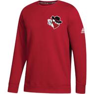 Braintree Bandits AAU Adidas Youth Red Fleece Crew