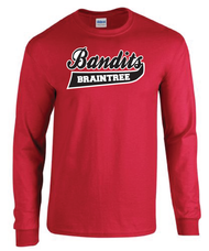 Braintree Bandits AAU Adult Red Cotton Longsleeve Tee