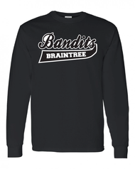 Braintree Bandits AAU Adult Black Cotton Longsleeve Tee