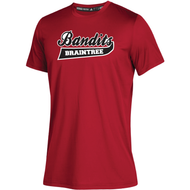 Braintree Bandits AAU Adidas Mens Red Clima Tech Tee