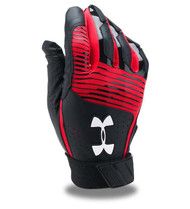 2019 Under Armour Youth Red Black Cleanup Batting Gloves