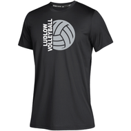Ludlow Adidas Team Climatech SS Tee - Volleyball
