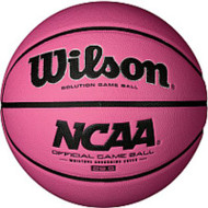 Wilson NCAA Solution Pink Game Ball Basketball 28.5