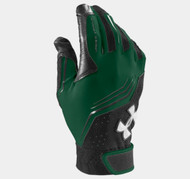 Under Armour Youth UA Clean Up Batting Gloves - Dk Green