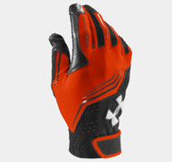Under Armour Youth UA Clean Up Batting Gloves - Dk Orange