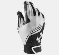 Under Armour Youth UA Clean Up Batting Gloves - White