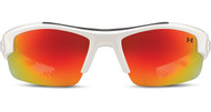 Under Armour Kids UA Nitro L Sunglasses Shiney White w Orange Multi