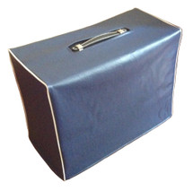 SUPRO 1624T 1X12 COMBO COVER - BLUE VINYL W/WHITE PIPING