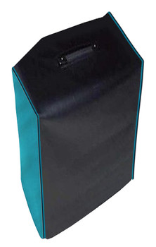 AMPEG BA-115 V2 1X15 BASS COMBO COVER - BLACK VINYL W/ AQUA SIDES AND TURQUOISE PIPING