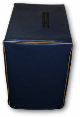 Navy vinyl cover with maize piping