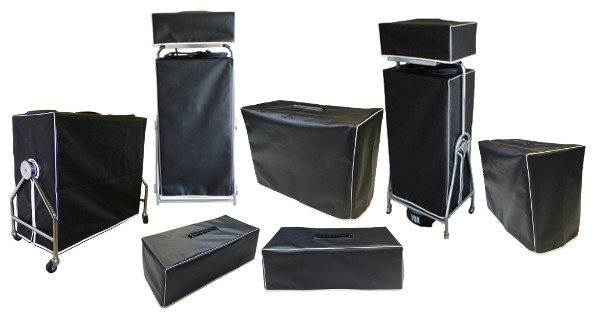 Vox cabinet and head covers front view