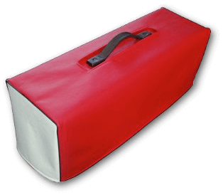 Red and White Vinyl Cover with Black Piping