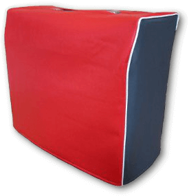 Red and Navy Vinyl Cover wtih White Piping