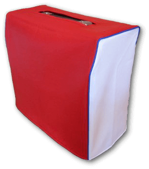 Red and White Vinyl Cover with Blue Piping