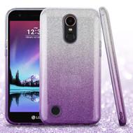 Full Glitter Hybrid Protective Case for LG K20 Plus / K20 V / K10 (2017) / Harmony - Gradient Purple