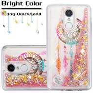 Quicksand Glitter Transparent Case for LG Aristo / Fortune / K8 2017 / Phoenix 3 - Dreamcatcher
