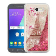 Quicksand Glitter Case for Samsung Galaxy J3 (2017) / J3 Emerge / J3 Prime / Amp Prime 2 / Sol 2 - Eiffel Tower