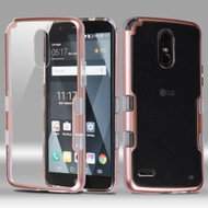 *SALE* TUFF Panoview Transparent Hybrid Case for LG Stylo 3 / Stylo 3 Plus - Rose Gold